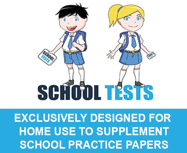 image of school tests girl and boy