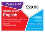 image of school tests English pack