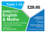 image of school tests Maths and English packs