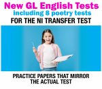 graphic of student holding clipboard of new gl test