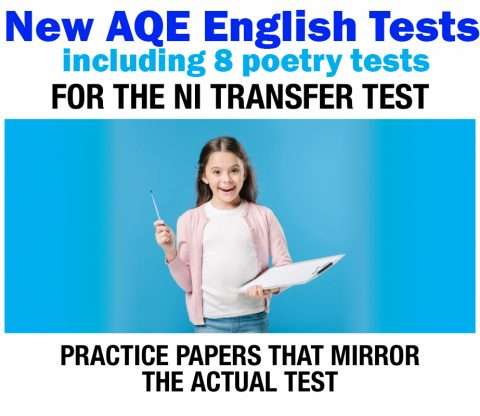 graphic of student holding clipboard of new aqe test