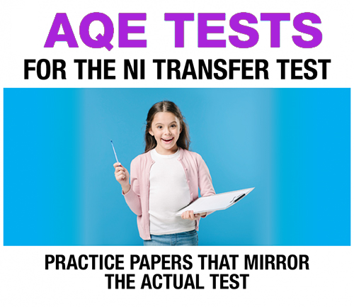 Category image of girl holding a pen and clipboard for the transfer tests website